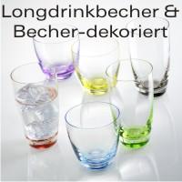 Longdrinkbecher & Becher - dekoriert