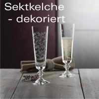 Sektkelche - dekoriert