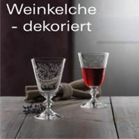 Weinkelche - dekoriert