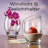 Wind- und Teelichthalter