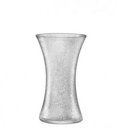 Vase 25,5 cm weiß gefrostet - Craquelé
