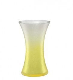 Vase 25,5 cm gelb - Craquelé
