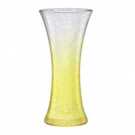 Vase 30,0 cm gelb - Craquelé
